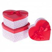 Kikajoy Liebe Kırmızı Kalp Kutu Set 3lü