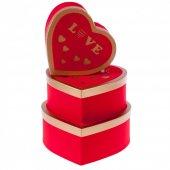 Kikajoy Clatter Kırmızı Kalp Kutu Set 3lü-2