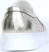 Bayan Babet Ayakkabı Altın Gümüş-4
