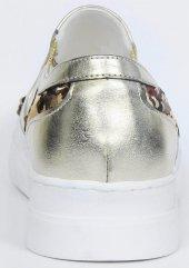 Bayan Babet Ayakkabısı Altın Gümüş-4