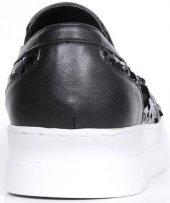 Bayan Babet Ayakkabı Siyah Pullu-4