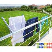 Pratik Balkon Çamaşır Kurutma Askılığı Alüminyum Katlanır Askı