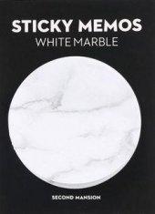 Beyaz Mermer Tasarımlı Yapışkanlı Not Kağıdı