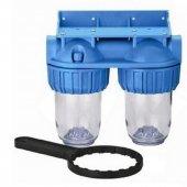 Daire Sayaç Girişi Su Arıtma Filtre Kabı Boş Housing İkili 5