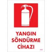 SÖNSAN UYARI LEVHALARI ''YANGIN SÖNDÜRME CİHAZI'' PVC 25*35