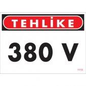 Sönsan Uyarı Levhaları Tehlike 380 V Pvc 25*35