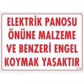 Sönsan Uyarı Levhaları Elektrik Panosu . Pvc 25*35