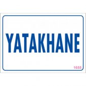 "SÖNSAN UYARI LEVHALARI ""YATAKHANE"" PVC 17,5*25"