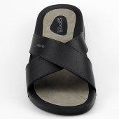 Ceyo 9877 Siyah Günlük Anatomik Ortopedik  Erkek Terlik Ayakkabı-4
