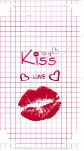 Iphone 7 Renkli Kiss Love Yazılı Arka Yan...