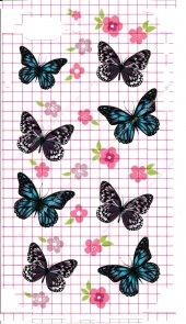 Iphone 7 Plus Kelebek Çiçek Desenli Arka Ve Yan...