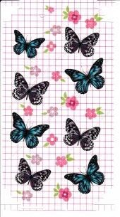 Iphone 6 Plus Kelebek Çiçek Desenli Arka Yan...