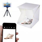 Ledli Işıklı Ürün Çekim Çadırı 30x30cm Mini Stüdyo + Mini Tripod