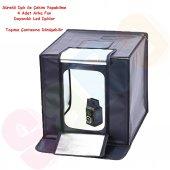 Led Işıklı Ürün Çekim Çadırı 60x60cm Mini Stüdyo(4 Adet Arka Fon)