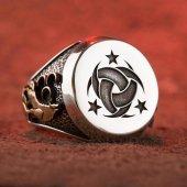 Gümüş Teşkil� T I Mahsusa Yüzüğü (Ay Yıldız Bozkurt)