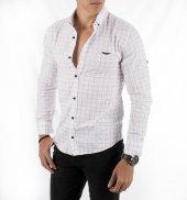 DeepSEA İplik Dikişli Kare Desenli Uzun Kollu Likralı Erkek Gömlek 1801832