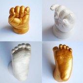 Bebek Çocuk El Ayak İzi Minik Heykel Seti
