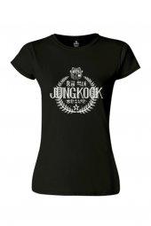 BTS - Jungkook Siyah Bayan Tişört