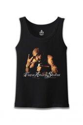 Tupac Shakur 2 Siyah Erkek Atlet