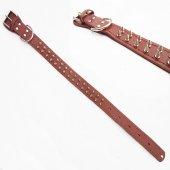 Deri Köpek Tasması Metal Zımbalı Dikişli Deri Tasma Nu 638228