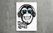 Music Is Fun Kanvas Tablo