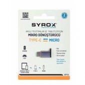 Syrox Type C Micros Usb Otg Dönüştürücü (Dt14) 2 Yıl Garantili