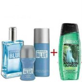 Avon İndividual Blue Erkek Parfüm Seti 4 Parça