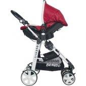 Beneto 500 Tavel Sistem Pusetli Bebek Arabası YAĞMURLUK HEDİYE-5