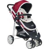 Beneto 500 Tavel Sistem Pusetli Bebek Arabası YAĞMURLUK HEDİYE-6