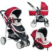 Beneto 500 Tavel Sistem Pusetli Bebek Arabası YAĞMURLUK HEDİYE-8