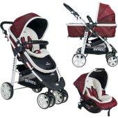 Beneto 500 Tavel Sistem Pusetli Bebek Arabası YAĞMURLUK HEDİYE-2
