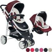 Beneto 500 Tavel Sistem Pusetli Bebek Arabası YAĞMURLUK HEDİYE-3