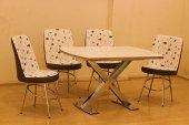Mutfak Masası 4 Kişilik Camlı Masa Sandalye...