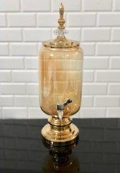 Altın Dekoratif Cam Sebil Damacana Şerbetlik 3 Litre