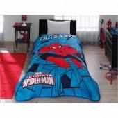 Taç Lisanslı Spiderman Örümcek Adam Tek Kişilik Battaniye