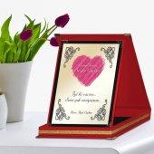 Kişiye Özel Kırmızı Plaket (Anneler Günü Temalı)  1