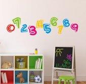 çocuk Odası Duvar Sticker Sayılar