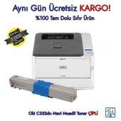 46508734 Oki C332dn Mavi Muadil Toner 3.000 Sayfa