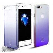 Baseus Glaze Mor iPhone 8 Plus Kılıf Arka Koruyucu Kapak