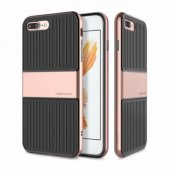 Baseus Travel Rose Gold iPhone 8 Plus Kılıf Arka Koruyucu Kapak