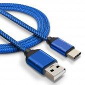 Sony Xperia XA1 Plus Type C Hızlı Şarj Data Kablosu Premier Örgülü Kablo 1 Metre-2