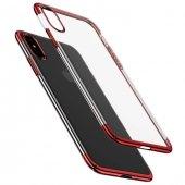 Baseus Glitter iPhone X Kırmızı Kılıf Arka Koruyucu Kapak