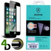 Zore iPhone 6s Plus Ekran Koruyucu 4D Kırılmaz Cam Kenarları Tam Kaplayan