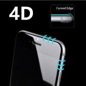 Zore iPhone 6s Plus Ekran Koruyucu 4D Kırılmaz Cam Kenarları Tam Kaplayan-5