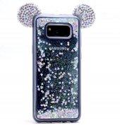 Samsung Galaxy S8 Plus Taşlı Kılıf Mickey Silikon Arka Kapak-3