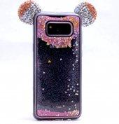 Samsung Galaxy S8 Plus Taşlı Kılıf Mickey Silikon Arka Kapak-4