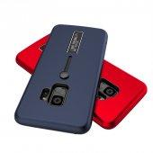 Samsung Galaxy S9 Kılıf Olive Kemerli Standlı Kapak Koruyucu-3