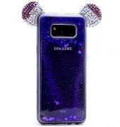 Samsung Galaxy S8 Plus Taşlı Kılıf Mickey Silikon Arka Kapak-6