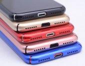 iPhone Se Kılıf Cherry Düğme Korumalı Arka Kapak Mavi + Kırılmaz Cam Ekran Koruyucu-2
