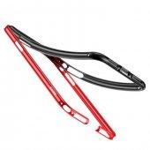 Baseus Bumper Apple iPhone X Kırmızı Alüminyum Kılıf Arka Koruyucu Kapak-4